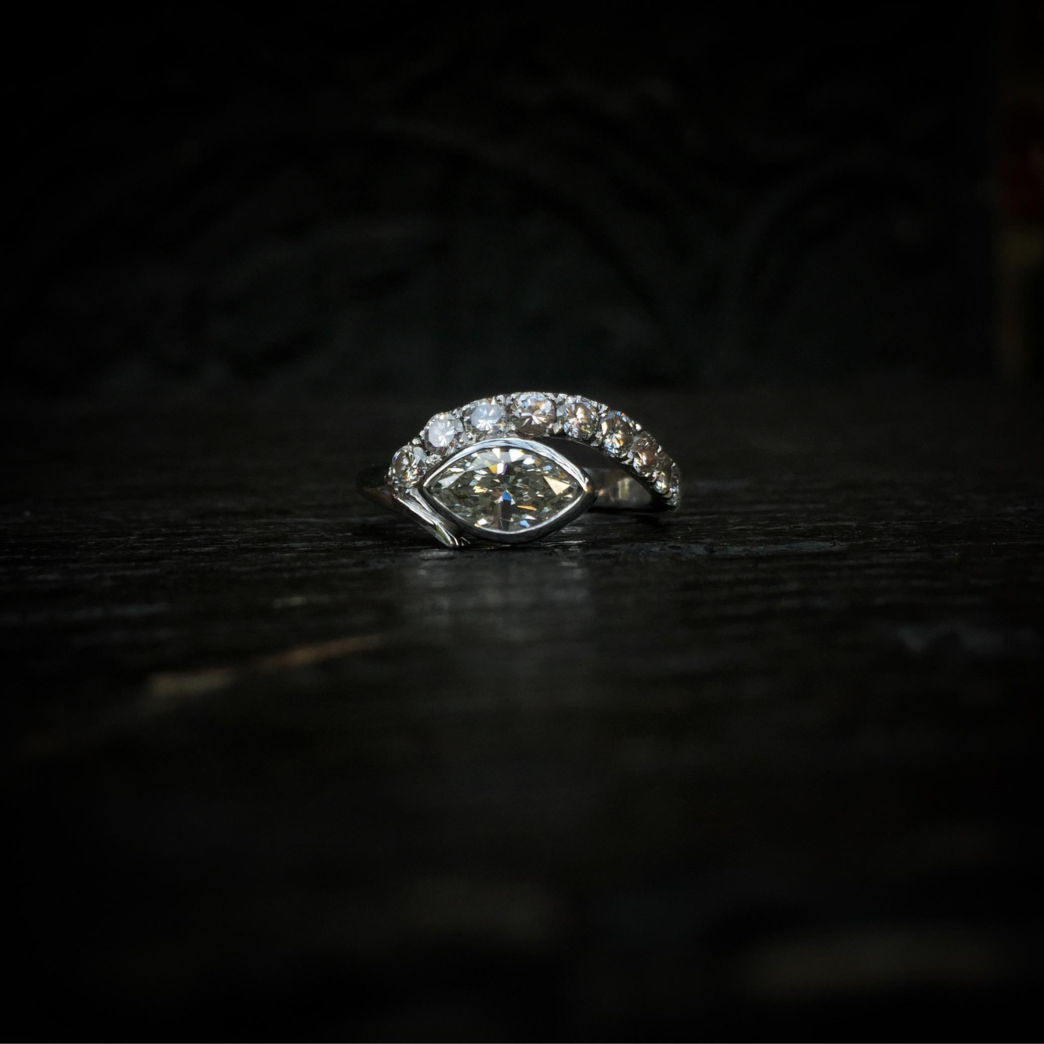 Bague Oeil Diamant Arthabilis.