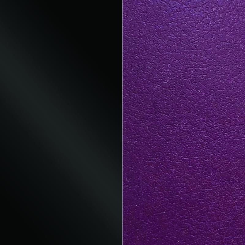 cuir pour pendentif rond 25 mm les georgettes noir vernis violine 703109999cj000