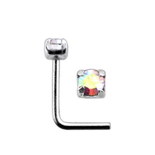 Clou-nez-forme-L-argent-sterling-925-Solitaire--4-griffes-Taille-20G08MM-5mmx5mm-0
