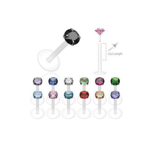 Piercing-Lvre-Labret-Cartilage-Tragus-Cristal-Griff-Noir-0
