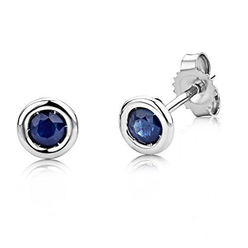 Miore-USP001EWS-Boucles-dOreilles-Femme-Or-Blanc-3751000-9-carats-07-Gr-Saphir-0
