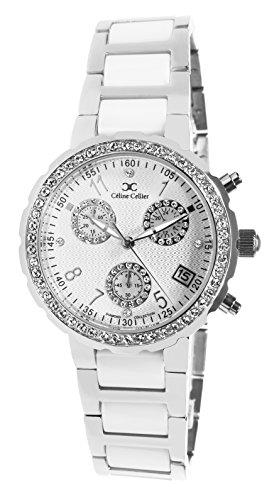 Celine-Cellier-12001WG-Montre-Femme-Quartz-Analogique-Cadran-Blanc-Bracelet-Acier-Multicolore-0