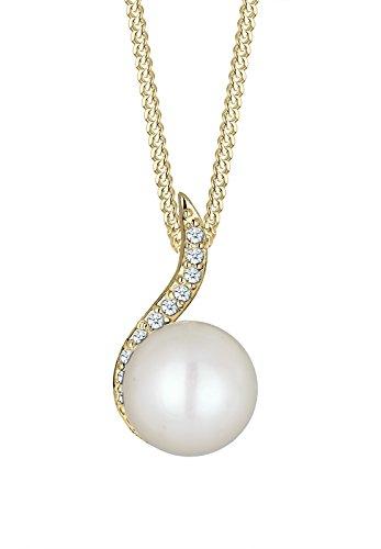 DIAMORE-Colliers-Femmes-Or-jaune-14-k-585-Diamant-Blanc-01-ct-Perle-deau-douce-Blanc-45-010925151545-0