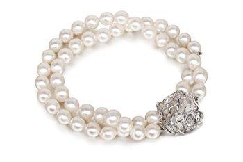 bracelet perles d'eau douce 9mm avec fermoir rose