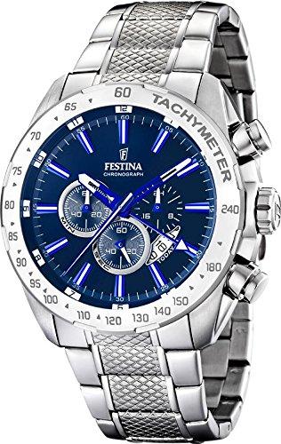 Festina-F16488-B-Montre-Homme-Quartz-Chronographe-Cadran-Bleu-Bracelet-Acier-Argent-0