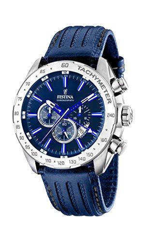 Festina-F16489-B-Montre-Homme-Quartz-Chronographe-Cadran-Bleu-Bracelet-Cuir-Bleu-0