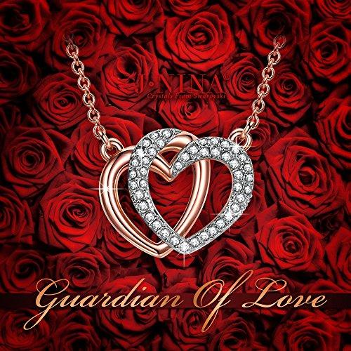 soldes j nina gardien de l 39 amour collier femme cristaux swarovski cadeau femme coeur bijoux. Black Bedroom Furniture Sets. Home Design Ideas