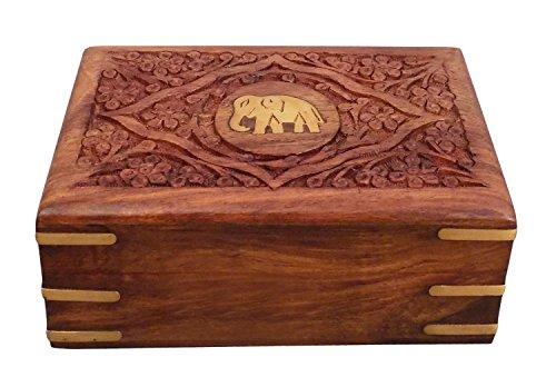 Bois-Bote--bijoux-centre-lphant-7X5-sculpture-de-travail-bote-de-rangement-cadeau-pour-Nol-ou-anniversaire-0
