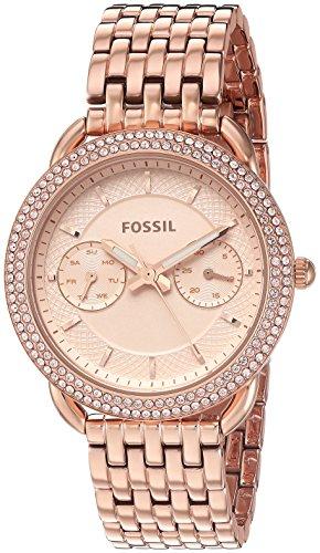 Fossil--quartz-pour-femme-montre-automatique-en-acier-inoxydable-couleur-rose-Gold-toned-modle-Es4055-0