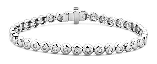 Miore - Bracelet Femme - Or blanc 375/1000 (9 carats) 12.7 gr - Diamant 1 cts