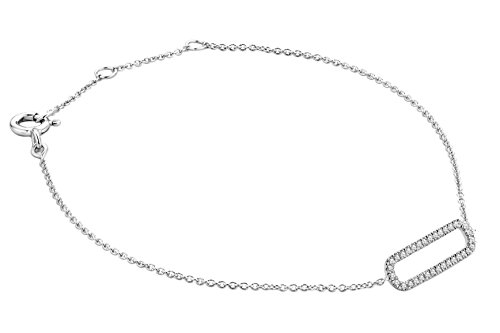Miore - Bracelet - Or blanc 9 cts - Diamant 0.11 cts - 18 cm - MY022B