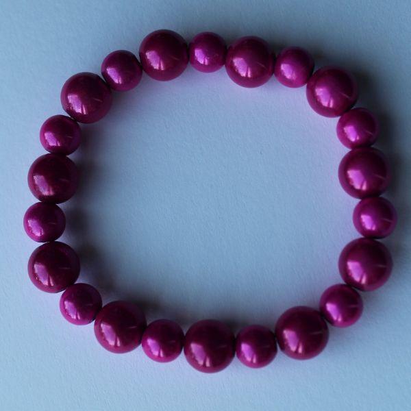 Bracelet perles magiques fushia
