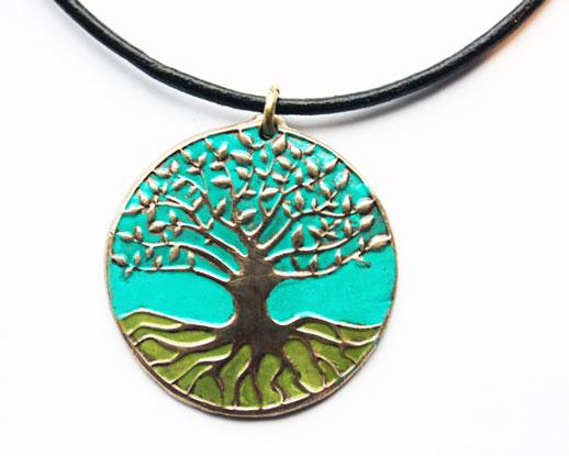 Pendentif arbre de vie bronze