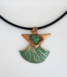 Pendentif turquoise bronze