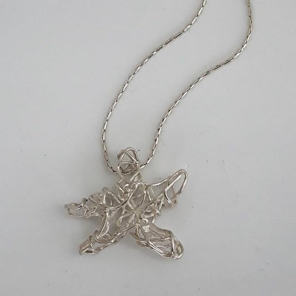 Pendentif étoile de mer argent fin