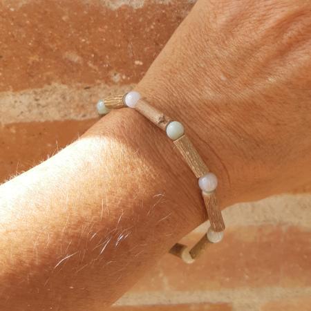 Bracelet noisetier simple amazonite
