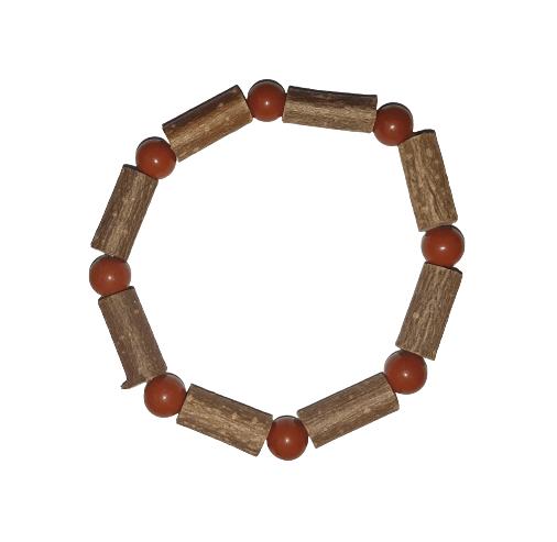 Bracelet noisetier simple jaspe rouge
