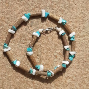 Collier Coquillages Turquoises