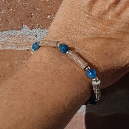 Bracelet noisetier apatite