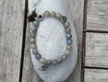 Bracelet élastique labradorite