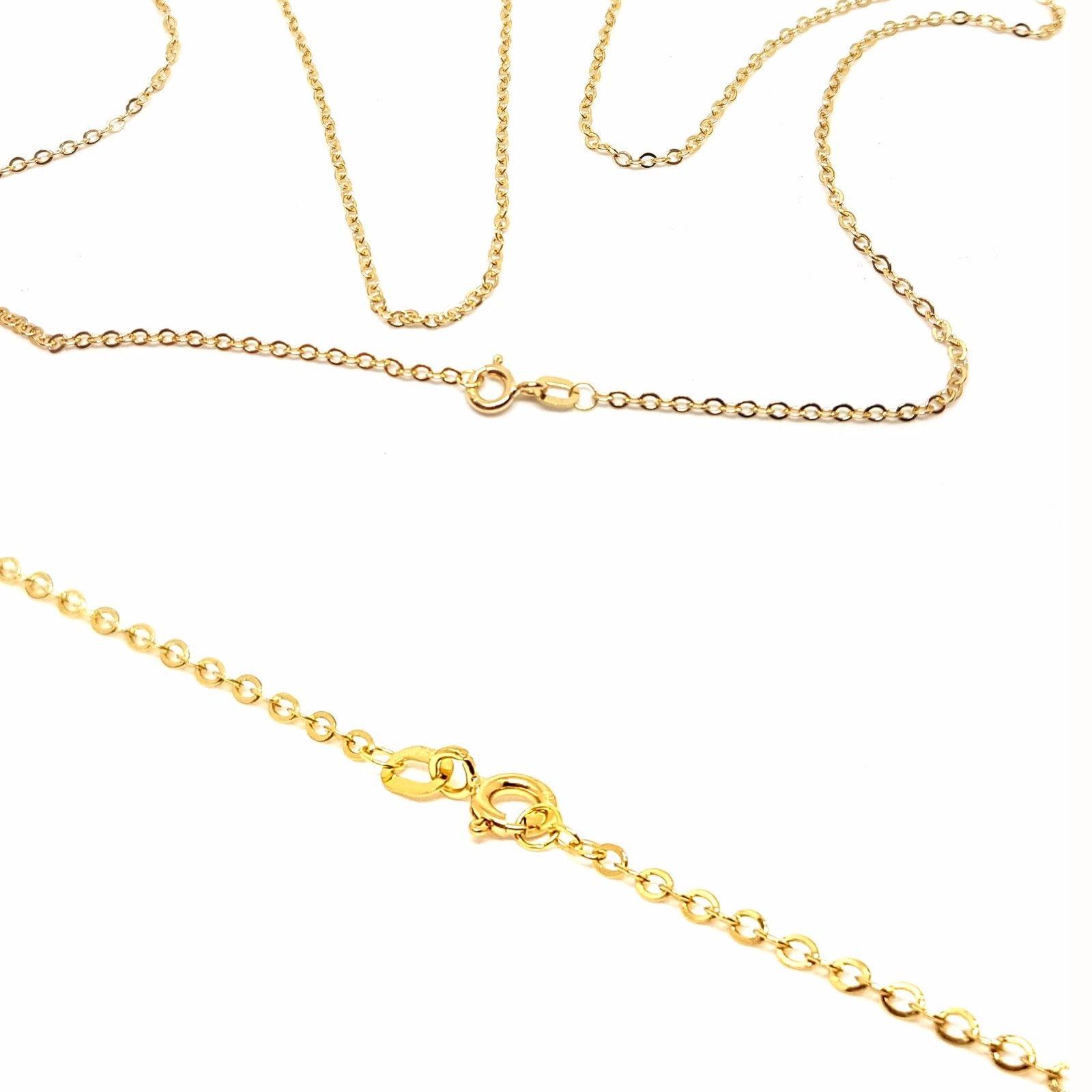 chaine forcat 2mm 60 cm or jaune 18k
