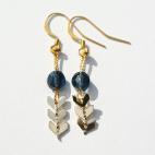 boucles d'oreilles epi dore et swarovski bleu 2 (Copier)
