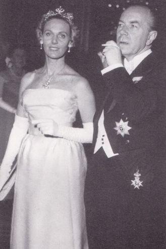 1965 05 03 Wedding Count Jan Bernadotte & Gunilla Stampe 2 Ctesse Marianne Bernadotte