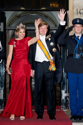 News Pictures.... Gala dinner for the Corps Diplomatique at the Royal Palace in Amsterdam Op de foto: Koning Willem Alexander en Koningin Maxima / King Willem Alexander and Queen Maxima