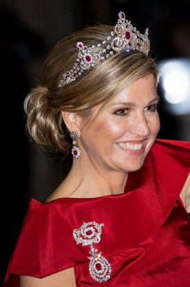 News Pictures.... Gala dinner for the Corps Diplomatique at the Royal Palace in Amsterdam Op de foto: Koningin Maxima / Queen Maxima