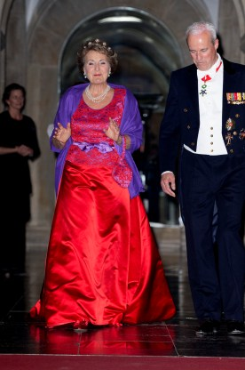 News Pictures.... Gala dinner for the Corps Diplomatique at the Royal Palace in Amsterdam Op de foto: Prinses Margriet