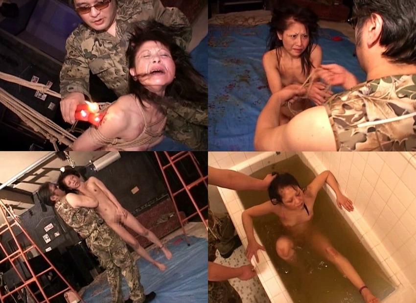 閲覧注意!ドM熟女を超ハードなSM虐待残虐行為!ゲスさ最強の拷問プレイ!