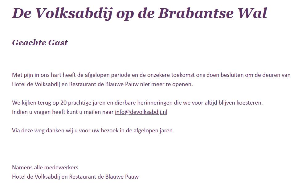 Volksabdij & Restaurant De Baluwe Pauw Ossendrecht