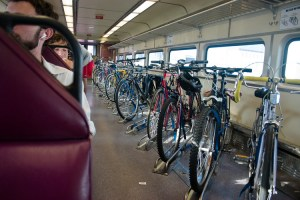 Bicycles on a Train