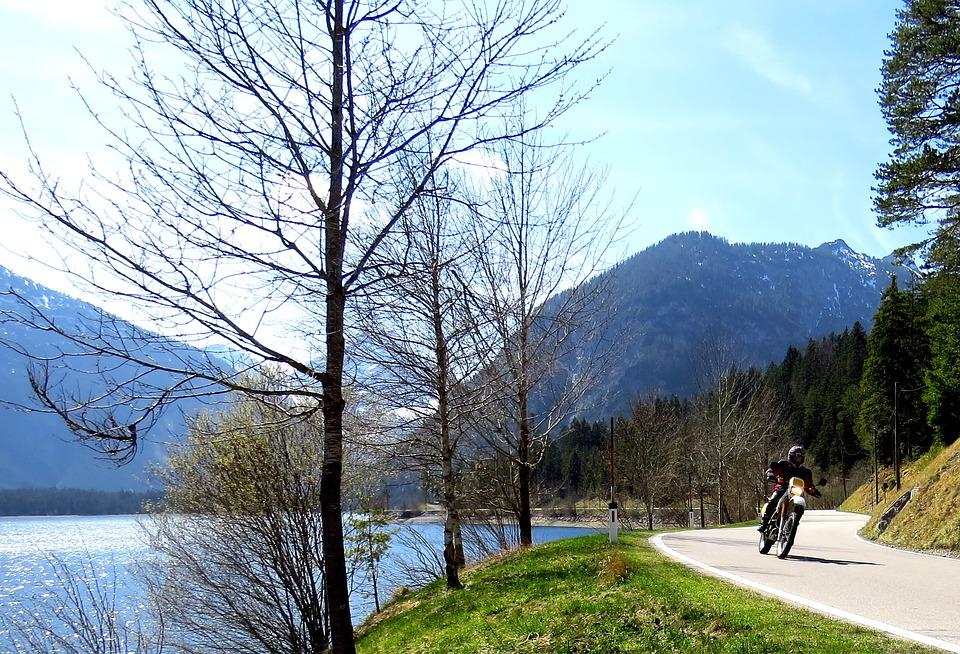 バイク 山 湖 自然