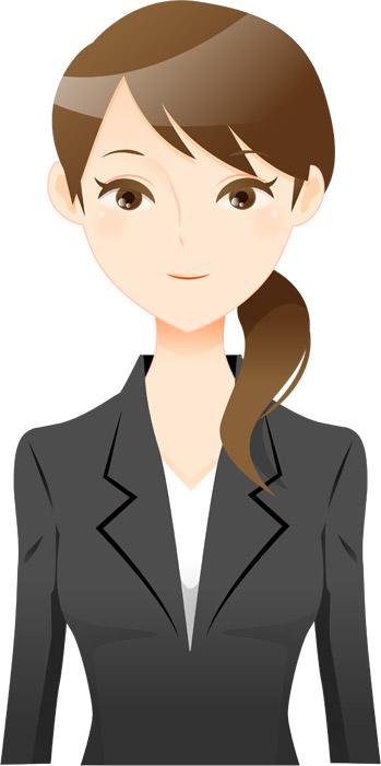 女性 笑顔 スーツ OL キャリアウーマン