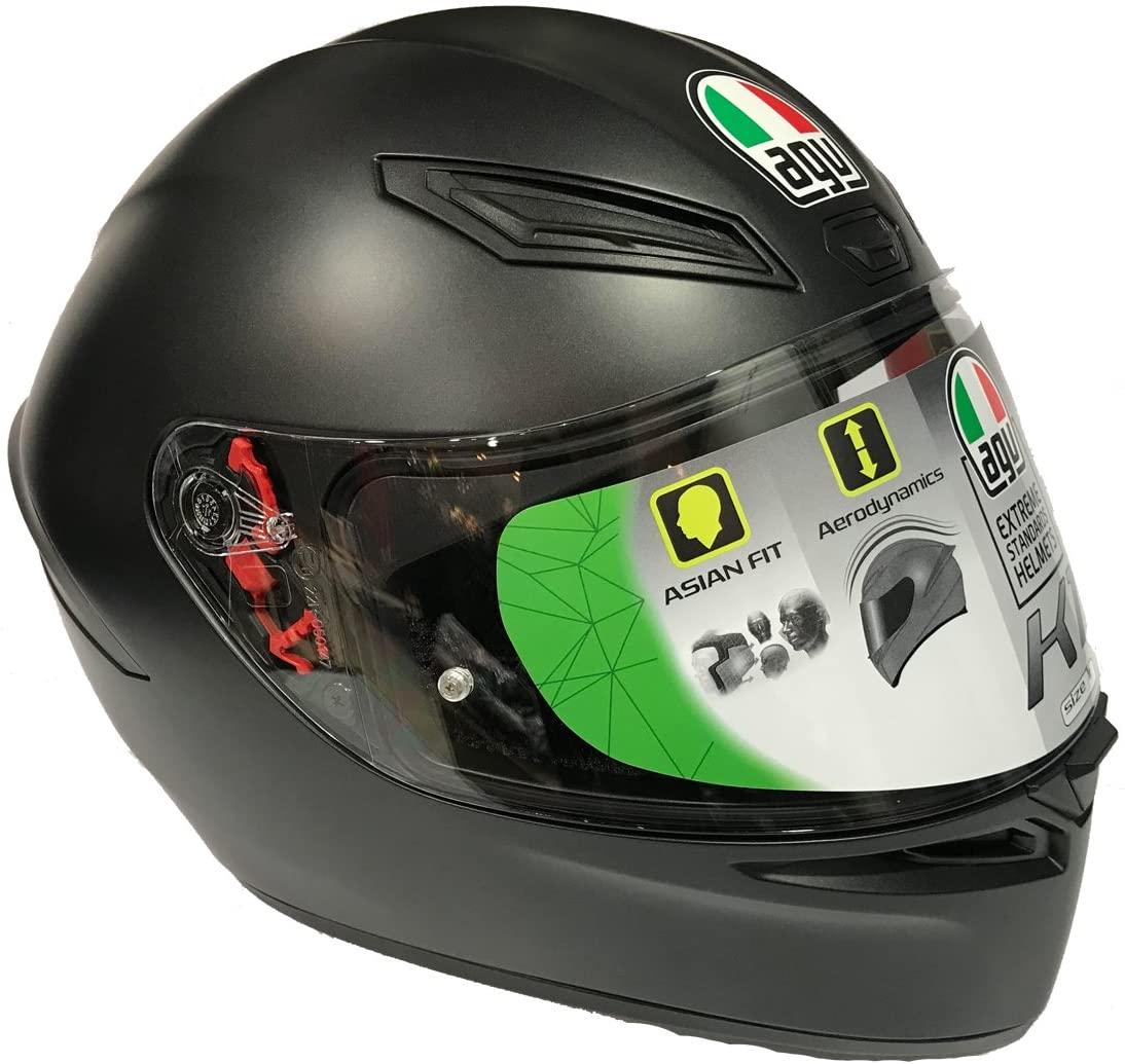 AGV(エージーブイ) バイクヘルメット フルフェイス K1 028194IY003-M MATT BLACK (マットブラック)