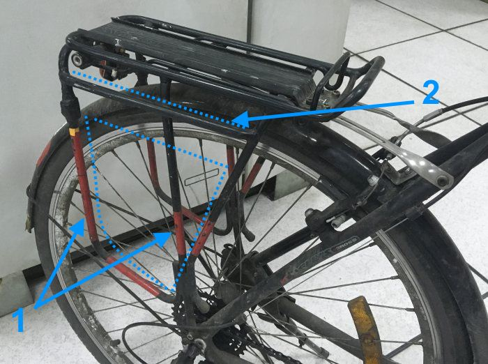 mounting a backpack and panniers on a bicycle bikegremlin