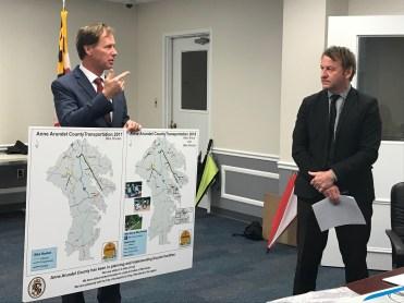 County Executive Steuart Pittman and Mayor Gavin Buckley address the goal of Silver-level
