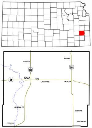 Kansas Allen County Map 300