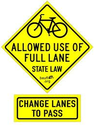 Bikes May Use Full Lane