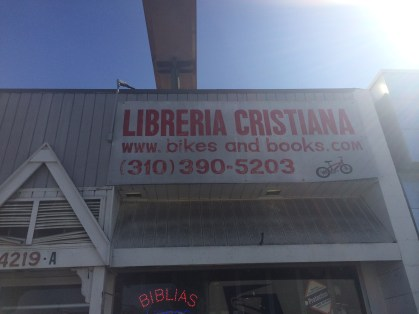 Amazing bike and bible shop that helped us ship our bikes back to NYC