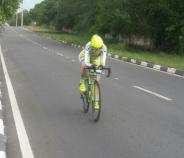 Atleta piauiense Karine Frota especialista em ciclismo de estrada
