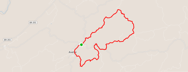 1º bike ride avelar - Mapa padrão
