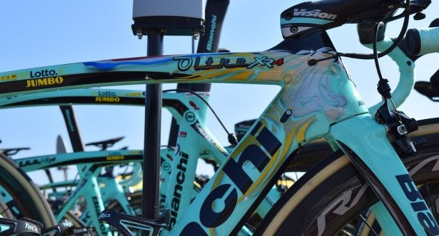 A Bianchi Oltre XR4s de Primož Roglič e Dylan Groenewegen no Tour de France 2018 (5)