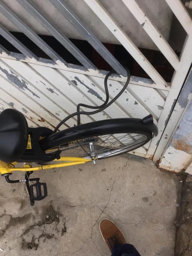 Bike Yellow em São Paulo, pessoas ajudam para as bikes não sumirem! (3)