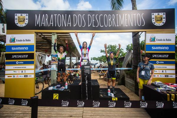Pódio feminino(Wladimir Togumi Brasil Ride)