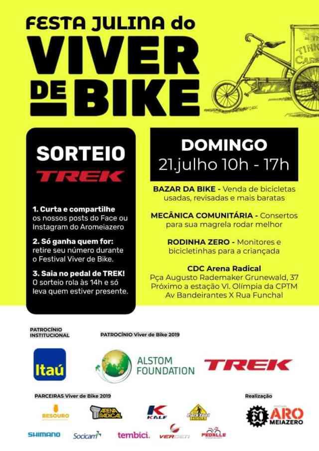 Festival Viver de Bike celebra cultura da bicicleta com sorteio de uma bicicleta Trek neste domingo 2107.jpg