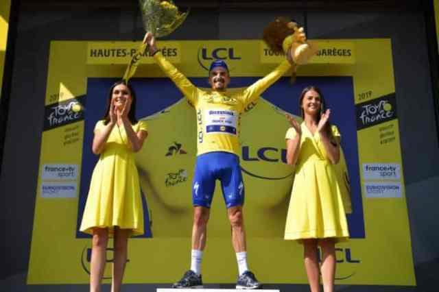 Tour de France 2019 14ª etapa – Julian Alaphilippe com a camisa amarela