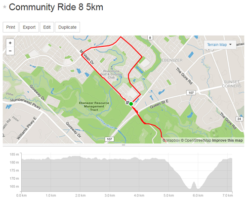 Community Ride 8 -5km Map