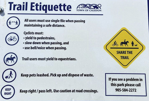 Caledon Trails Etiquette